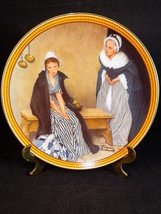 """Norman Rockwell Colonial Collectible Plate Words of Comfort Porcelain Knowles 8"""" - $12.86"""