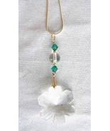 Judy Strobel Swarovski Cut Glass & Quartz Crystal Snowflake  Pendant ... - $29.95