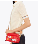 Tory Burch Perry Color-Block Double-Zip Mini Bag Red - $235.00