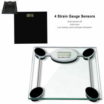 130KG DIGITAL ELECTRONIC GLASS LCD WEIGHING BODY SCALES BATHROOM HELPS L... - $19.18