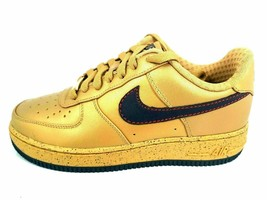 NIKE BOYS SHOES  AIR FORCE 1 PREMIUM GSBY CASUAL LEATHER GOLD 315677 741... - $42.99