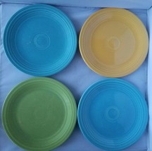 "Fiestaware Genuine Fiesta Multi-Colored Set 4 Salad Small Dinner Plates 9"" Home - $63.19"