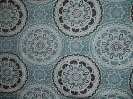 New Threshold Blue & Brown Medallion Shower Curtain      - $13.99