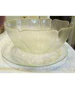 Arcoroc Fleur De Lis Large Salad Bowl And Serving Platter - $24.99