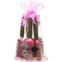 Head Jog Oval Bag Brush Set, Pink  - $60.00