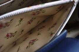 #31642 Gucci Marmont Gg Embroidered Matelasse Logo Tote Blue Denim Shoulder Bag image 12