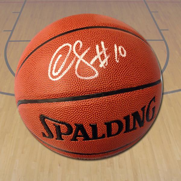 Demar DeRozan Autographed Spalding NBA I/O Basketball - Toronto Raptors