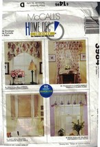 McCall's Home Dec in-a-Sec 3984 Window Treatments 4 Fabulous Ways Quick & Easy - $4.99