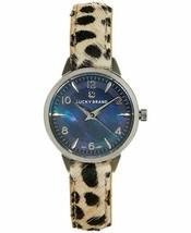 Lucky Brand Women's Torrey Mini Leopard Leather Strap Watch 28mm - $122.49