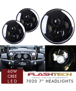 LED 7 Inch Round Projector Headlights Black Housing Low/High H6024 H6012... - $95.88