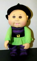 """2016 Cabbage Patch Kids CPK Plush Doll Witch Plastic Head 10"""" Purple & G... - $17.82"""