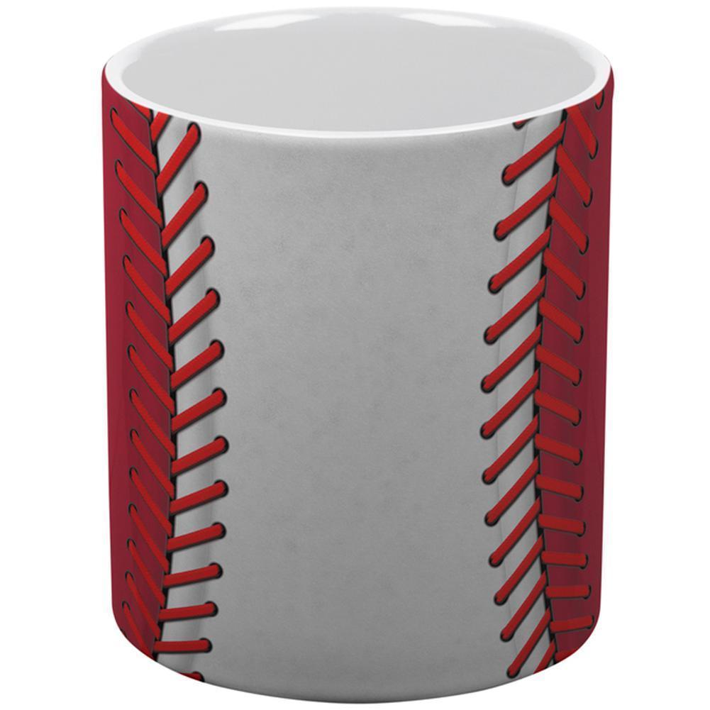 Baseball League White and Red All Over Coffee Mug
