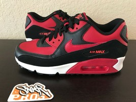 new product 42353 22f90 NIKE AIR MAX 90 LTR (GS) GYM RED BLACK BRED 724821 601 US YOUTH