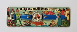 1950s vintage PETER PAN blue TOY WATCH germany rotate character DISNEY P... - $47.50