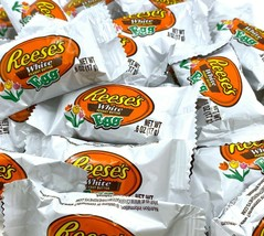 REESE'S Peanut Butter White Creme Eggs Candy, Bulk Pack 3 Lbs - $22.30
