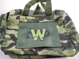 Webkinz Plush Pet Carrier Camo Green Army Style Camouflage by Ganz - $6.62