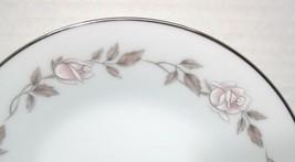 Noritake Lillian #6662 1965 - 1971 Pink White Rose Bread Butter Cake Plate  2PC - $14.85