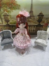 "Factory Icy Blythe Bjd Doll Red Head "" The Lady In Pink"" W/OUTFIT-STAND And More - $128.65"