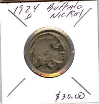 1924 D BUFFALO NICKEL - $13.86