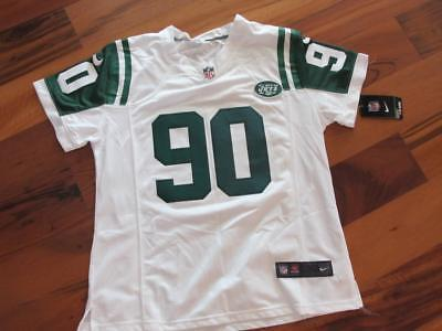 NEW Womens NIKE NFL Players NY Jets White Green Dennis Byrd Sewn Jersey XXL 2X