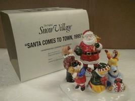 Deparment 56 Snow Village Santa Comes To Town 1995 54771 Box Dept - $21.03