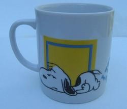 Snoopy Coffee Cup Mug 10 Oz 1958 Allergic to Morning Warm Breakfast Hot Tea - $22.24