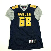 Eagles Football Jersey Youth Size Medium YM Ringer Stitched Sewn On Gold... - $27.33