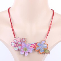 design  new 2016 lovely flowers spring/summer style necklace pendant fiv... - $13.56