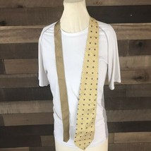 Tommy Hilfiger Mens Neck Tie Two Tone Gold 100% Silk - $14.03