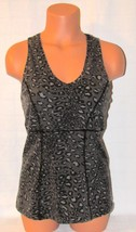 Danskin Now Women's Sportswear Animal Print Multi-Color Top Size: L/G (12/14)