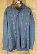 Tommy Bahama men XL long sleeve button down shirt silk wool blend striped - $23.71