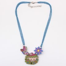 sheep necklace pendant acrylic pattern 2016 news accessories spring summer cute  image 3