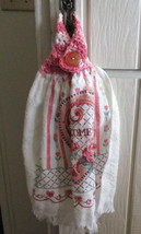 Kitchen Towel with Crocheted Top -Welcome - $4.00