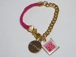 Ladies Womens Avon Celebrating 130 Years Avon pink goldtone Bracelet NIB;; - $16.33