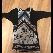 Women's XS Zara Floral Mini Dress with Black attached Jacket - $18.70