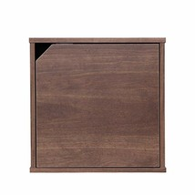 Dark Brown Easy Assembly Modular Wood Cubes Storage Box with Magnetic Cl... - $50.49