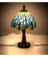 "12""H Tiffany Hanginghead Dragonfly W/Mosaic Base Mini Lamp - 26617 - ₹14,762.43 INR"