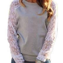 Floral Lace Sleeves Top For Women - $11.98