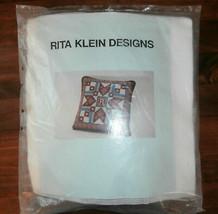 Rita Klein Designs Needlepoint Pillow Kit Star Patchwork - $24.18