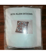 Rita Klein Designs Needlepoint Pillow Kit Star Patchwork - $24.18