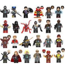 24pcs Marvel DC Avengers Tony Stark Spider-man Venom Supergirl Cable Minifigures - $33.99