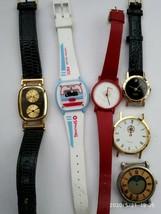Lot of 6 digital &analog vintage quartz watch for spares or repair - $4.99