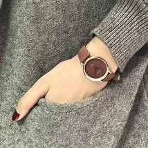 Ladies Quartz Wrist Watch Retro Women watch Ulzzang Vintage Leather - $8.68