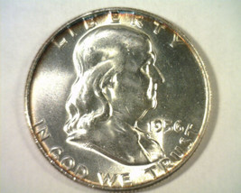 1956 FRANKLIN HALF CHOICE UNCIRCULATED CH. UNC. NICE ORIGINAL COIN BOBS ... - $22.00