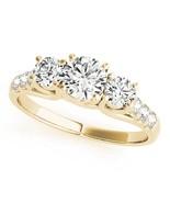 14k Yellow Gold Three-Stone Engagement Ring 0.50 carat, I-J Color, I2-I3... - $466.57+