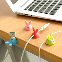 4pcs rabbit ear shaped cable holder protector management device organizer finish - $2.45