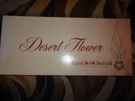 Vintage Regent Sheffield Carving Set Desert Flower Knife Knives Fork 3 p... - $18.49