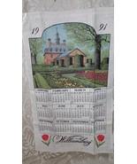 VINTAGE 1991 CLOTH LINEN TOWEL WILLIAMSBURG HISTORY BLDG. SCENE - $9.89
