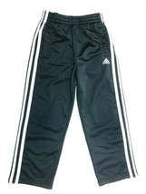 Adidas Athletic Sweat Pants Boy's Size 5, Black with White Side Stripes - $13.46