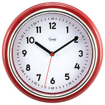 "Equity by La Crosse 11.5"" Silent Sweep Retro Dial Analog Wall Clock - $23.28"
